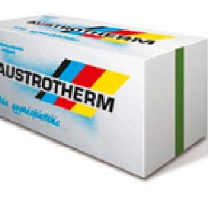 Austrotherm lépéshangszigetelő lemez 15 mm