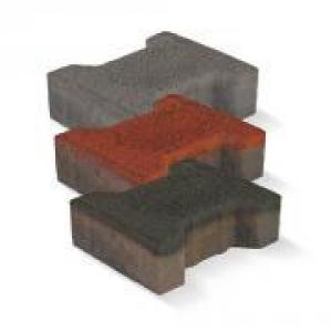Bakony térkő 8 cm piros, antracit
