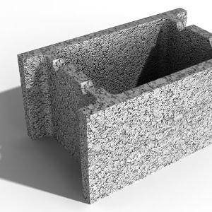 Leier beton zsaluzóelem ZS 25