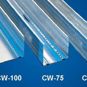 Függőleges falvázprofil - 0,6mm CW75 - 3fm/db