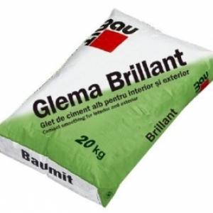 Baumit GlemaBrilliant hófehér glettanyag kézi és gépi felhordásra