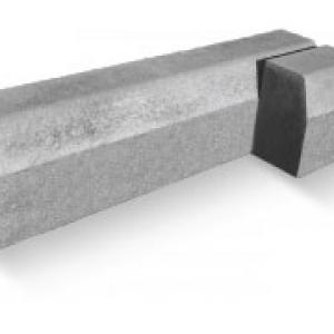 Kiemelt szegély 100x25x15cm szürke