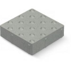 Veszélyjelző kő 40x40 6cm fehér