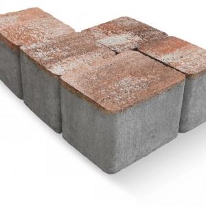 Villány kombi térkő 6 cm lazac-barna